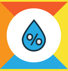 Percent colorful outline symbol premium quality vector