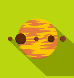 Planet and moons icon flat style vector