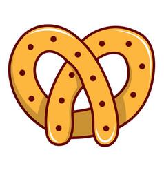 Pretzel icon cartoon style vector