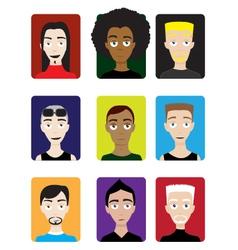 Set of Male Avatars vector image