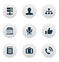 Set of simple company icons vector