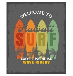 Surfing print or poster vector