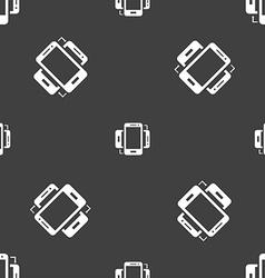 Synchronization sign icon smartphones sync symbol vector