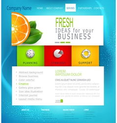 template business website vector image vector image