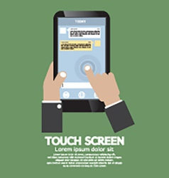 Touch Screen On Smartphone vector image