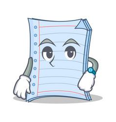 Waiting notebook character cartoon design vector