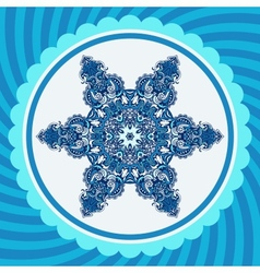 Winter New Year Snowflake Design vector image vector image