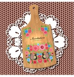 wooden utensil6 vector image