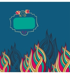 Colourful abstract background with doodle frame vector image