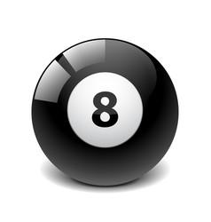 Billiard ball isolated on white vector