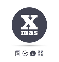 Happy new year sign icon xmas symbol vector