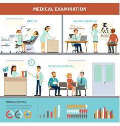 colorful medical examination infographic template vector image