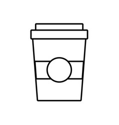 Coffee cug icon vector