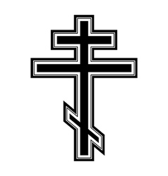 Religious orthodox cross icon vector