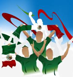 Mexican soccer crowd vector