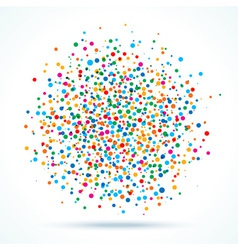 colorful abstract blot of dots vector image