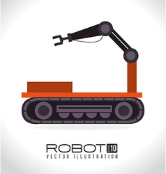 Robot design over white background vector