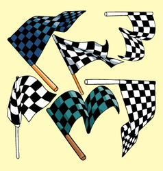 Race flags vector image