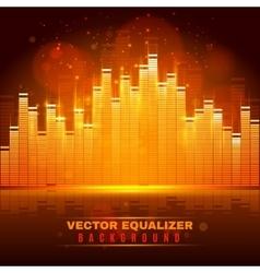 Equalizer wave light background poster vector image