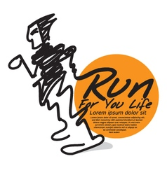 Run for your life the abstract runner vector