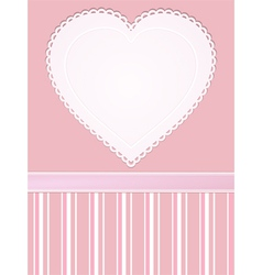 valentine heart background vector image
