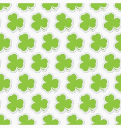Seamless - green shamrocks vector
