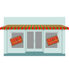 Super sale at store shop building with empty vector