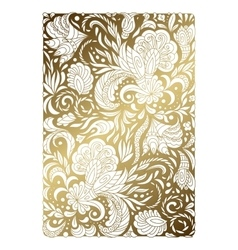 Flowers and Plants Gold Ornament vector image