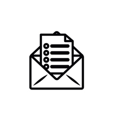 Envelope letter isolated icon design vector