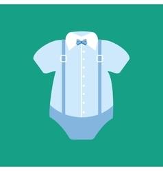 Baby boy bodysuit vector