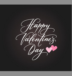 Background with happy valentines day text and vector
