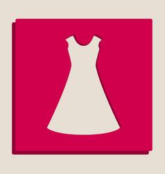 Beautiful long dress sign grayscale vector