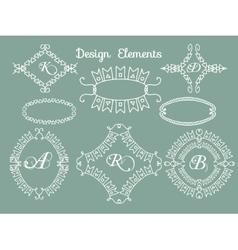 Calligraphic elements vintage set frame vector image vector image