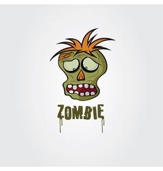 Cartoon zombie face design template vector