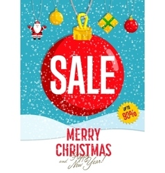 Christmas Holiday Sale Concept vector image vector image