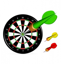 dartboard with darts vector image vector image