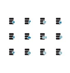 Database duotone icons on white background vector image vector image