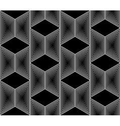 Design seamless monochrome trapezium patttern vector
