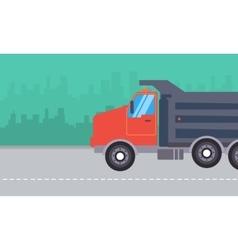 Dump truck landscape vector