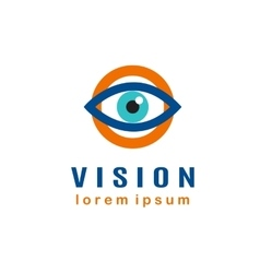 Eye Logo template vector image