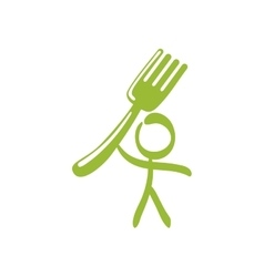 Fork pictogram healthy food icon graphic vector