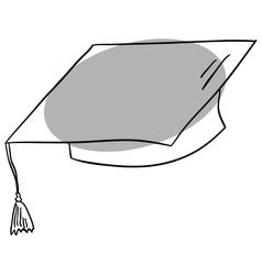 Graduate cap vector image vector image