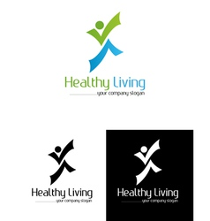 Healtly living vector image vector image