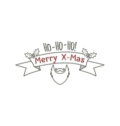 Hipster christmas label badge logo set vector