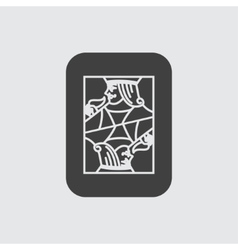 Jack card icon vector image