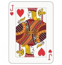 Jack of hearts vector