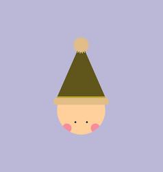 Kid head kid wearing santa hat vector