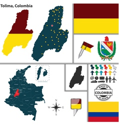 Map of tolima vector