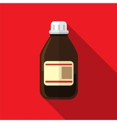 Medicine bottle flat icon vector image vector image