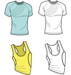 Men t-shirt and football shirt vector